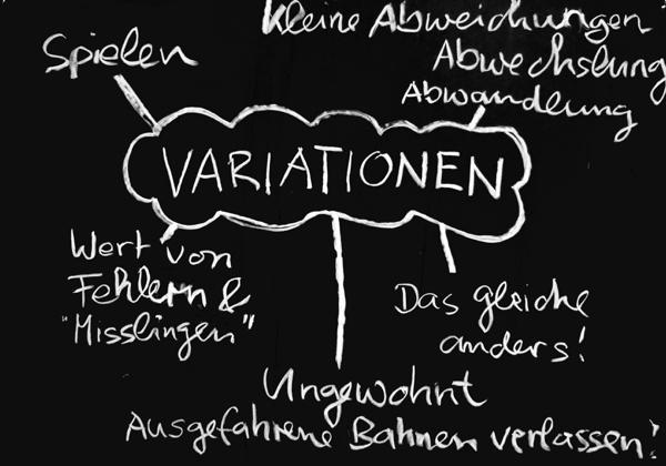 Feldenkrais Arbeitsprinzip: Variationen